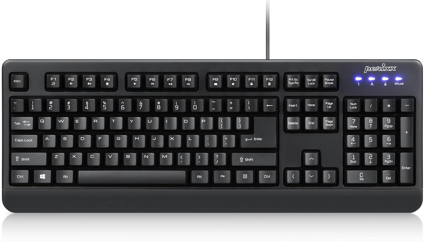 Perixx Periboard Wired Waterproof USB Keyboard