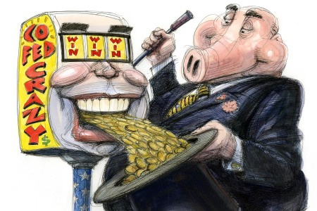 taibbi, covid-19 bailout, Illustration by Victor Juhasz