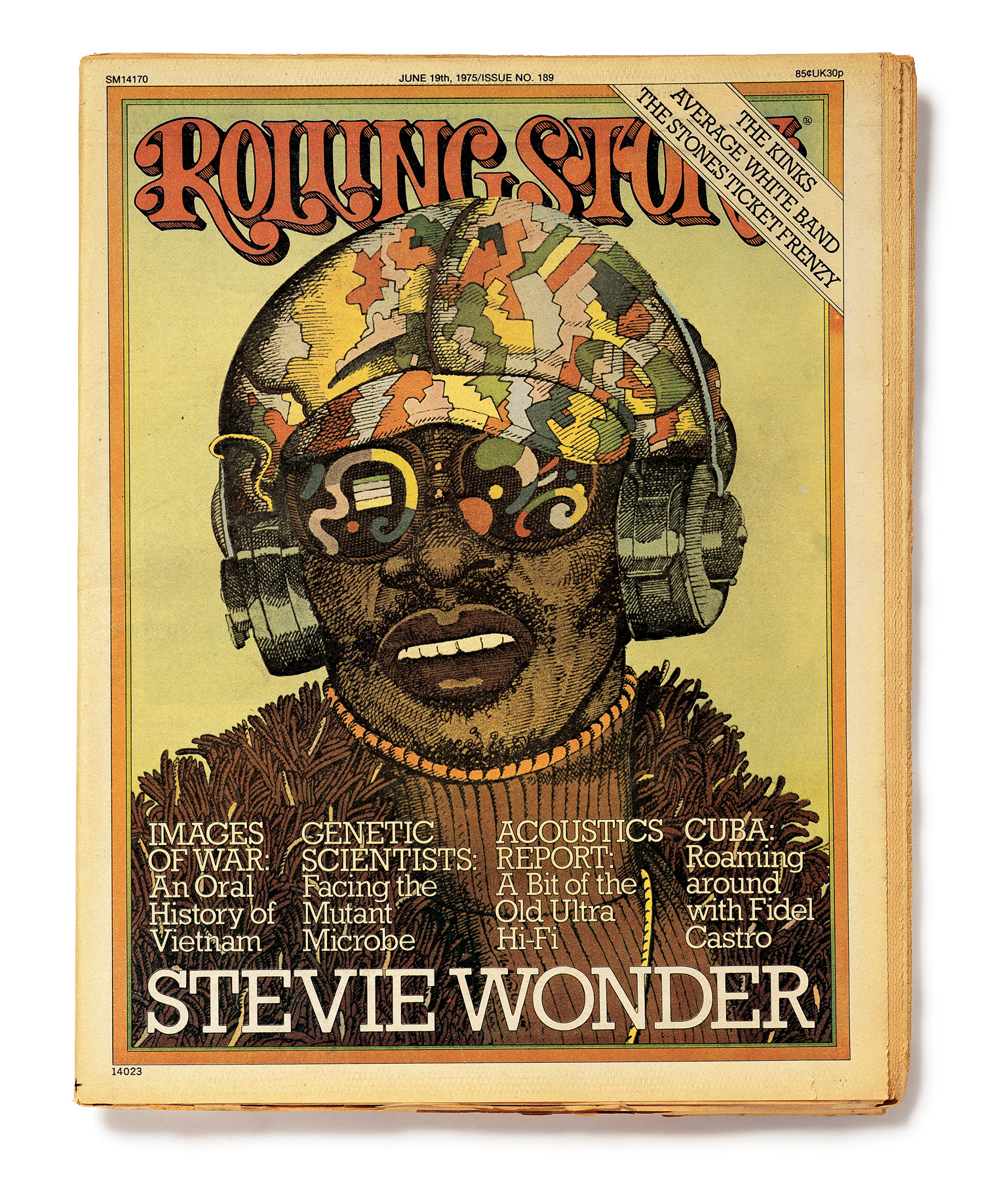 Stevie Wonder on the cover of the June 19, 1975 issue of Rolling Stone.