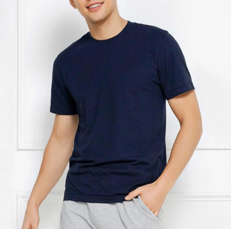 navy t shirt mens loungewear