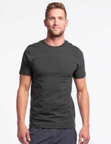 grey t shirt mens workout