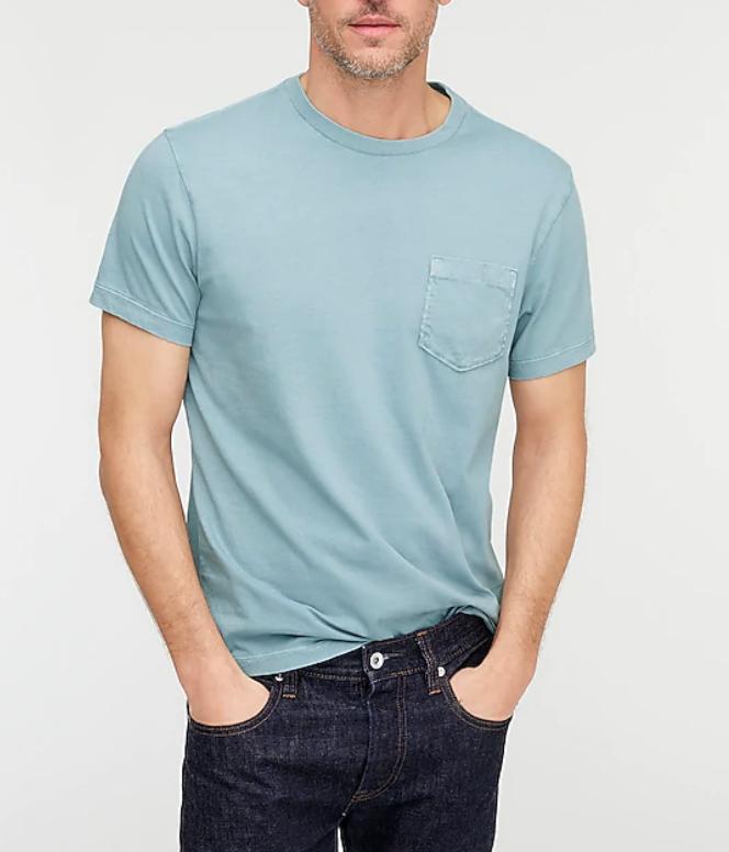 worn in t shirt mens j crew