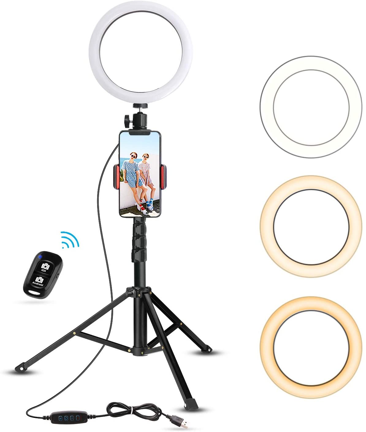 UBeesize Mini Led Camera Ringlight