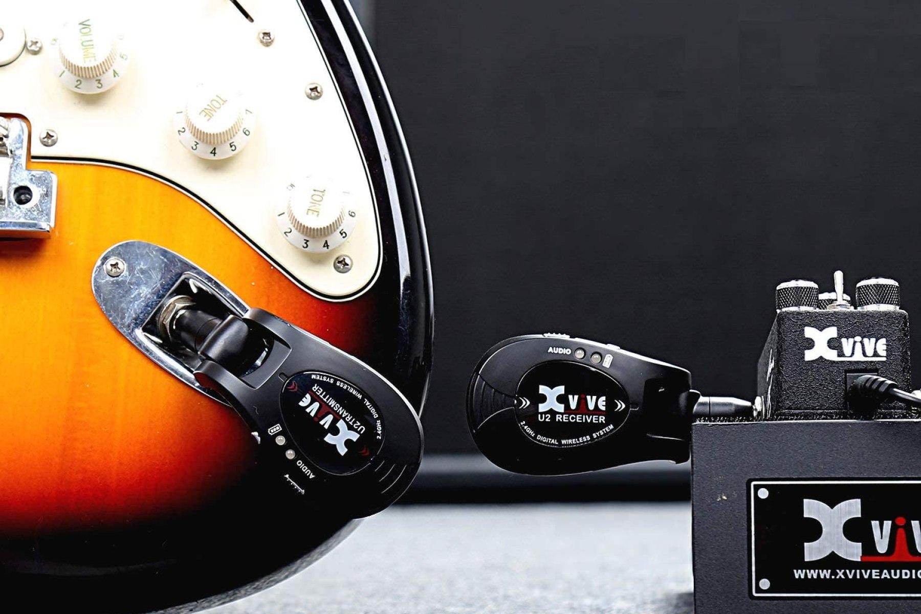 LEKATO 5.8G Wireless Guitar System Wireless Audio Electric Guitar Transmitter 4