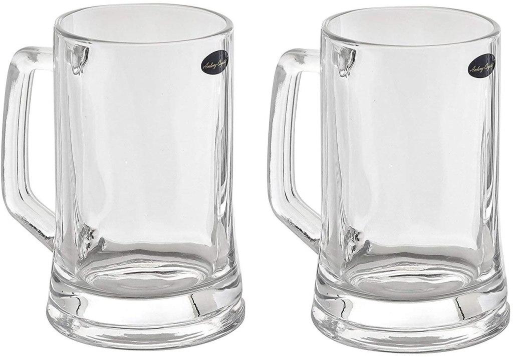 crystal beer mug 12 oz