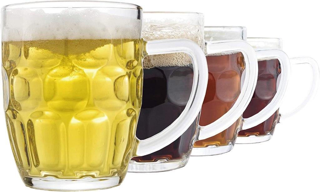 dimple stein beer mug 20 oz