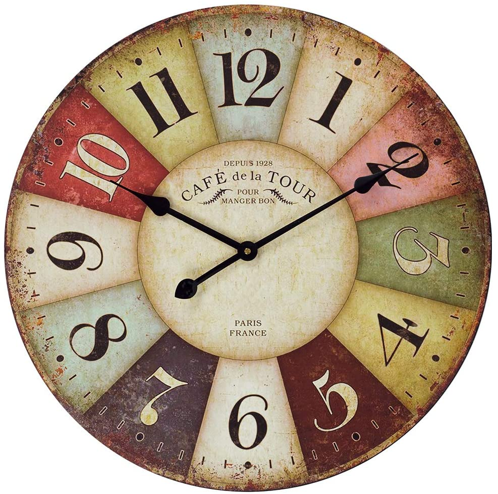 french bistro bar clock