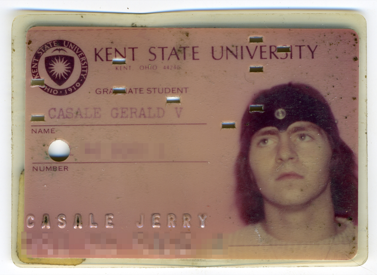Jerry Casale's Kent State ID card