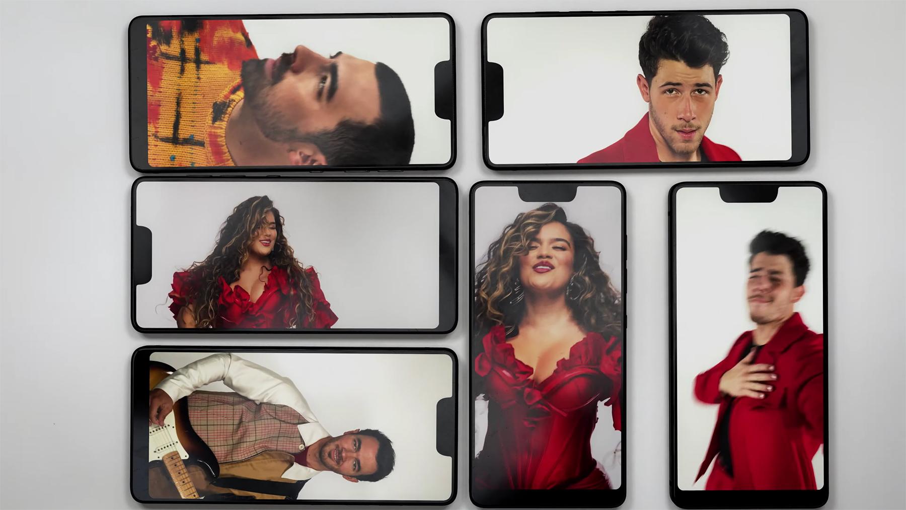 Jonas Brothers, Karol G Flirt Over iPhones in 'X' Video