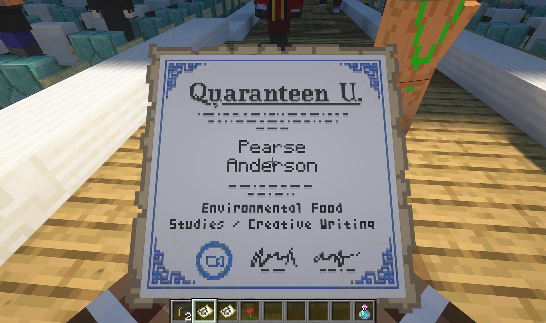 minecraft graduation