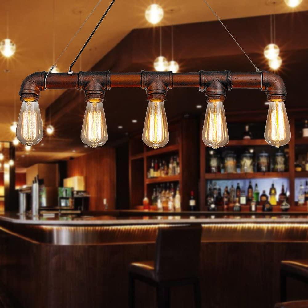 retro pipe bar light