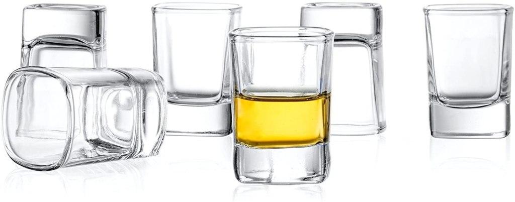 six pack heavy base shot glass