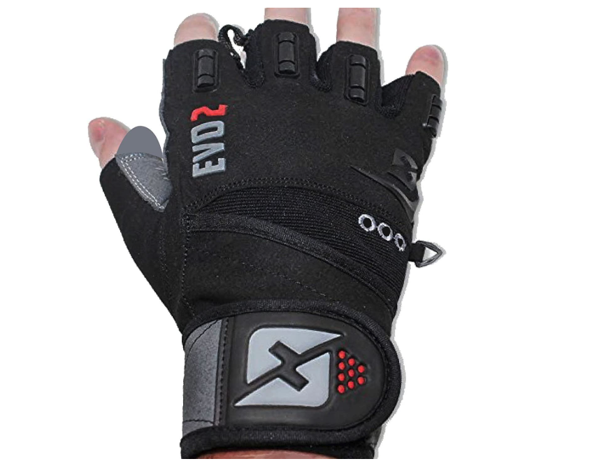 skott 2019 Evo 2 Weightlifting Gloves with Integrated Wrist Wrap
