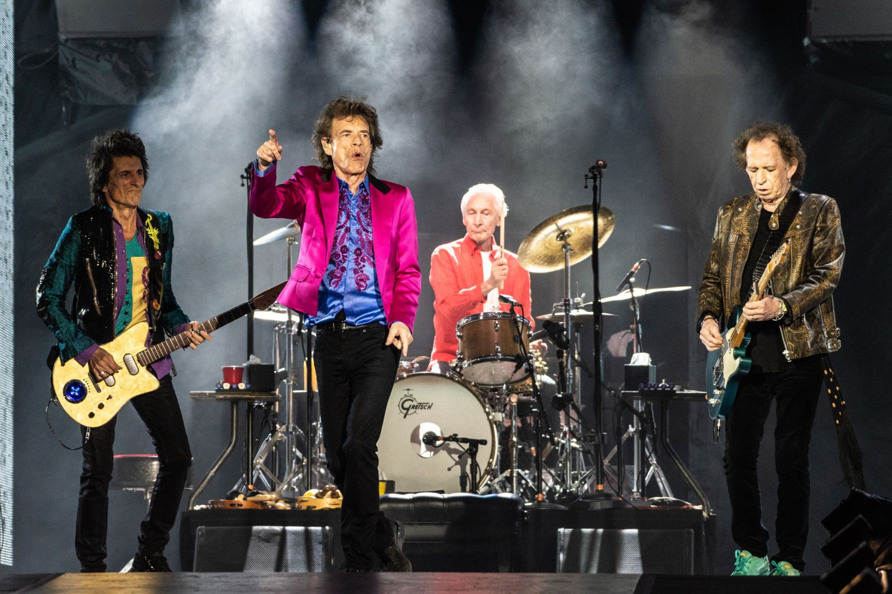 The Rolling Stones - Ronnie Wood, Mick Jagger, Charlie Watts and Keith RichardsThe Rolling Stones in concert, Santa Clara, USA - 18 Aug 2019