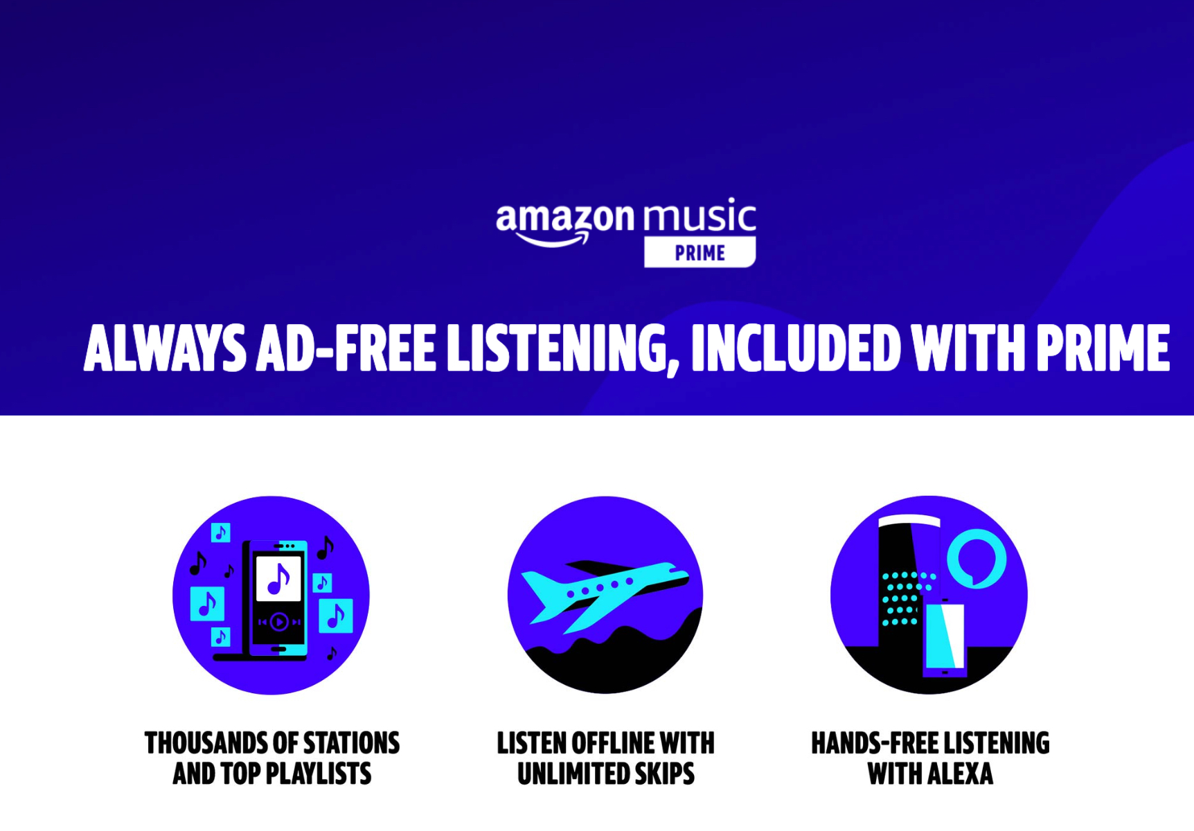 Amazon Prime Music Streaming Service