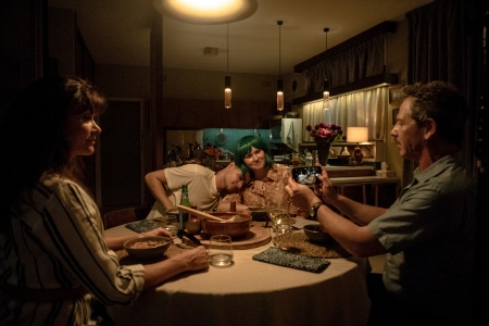 "ssie Davis as ""Anna,"" Eliza Scanlen as ""Milla,"" Toby Wallace as ""Moses,"" and Ben Mendelsohn as ""Henry"" in Shannon Murphy's BABYTEETH."
