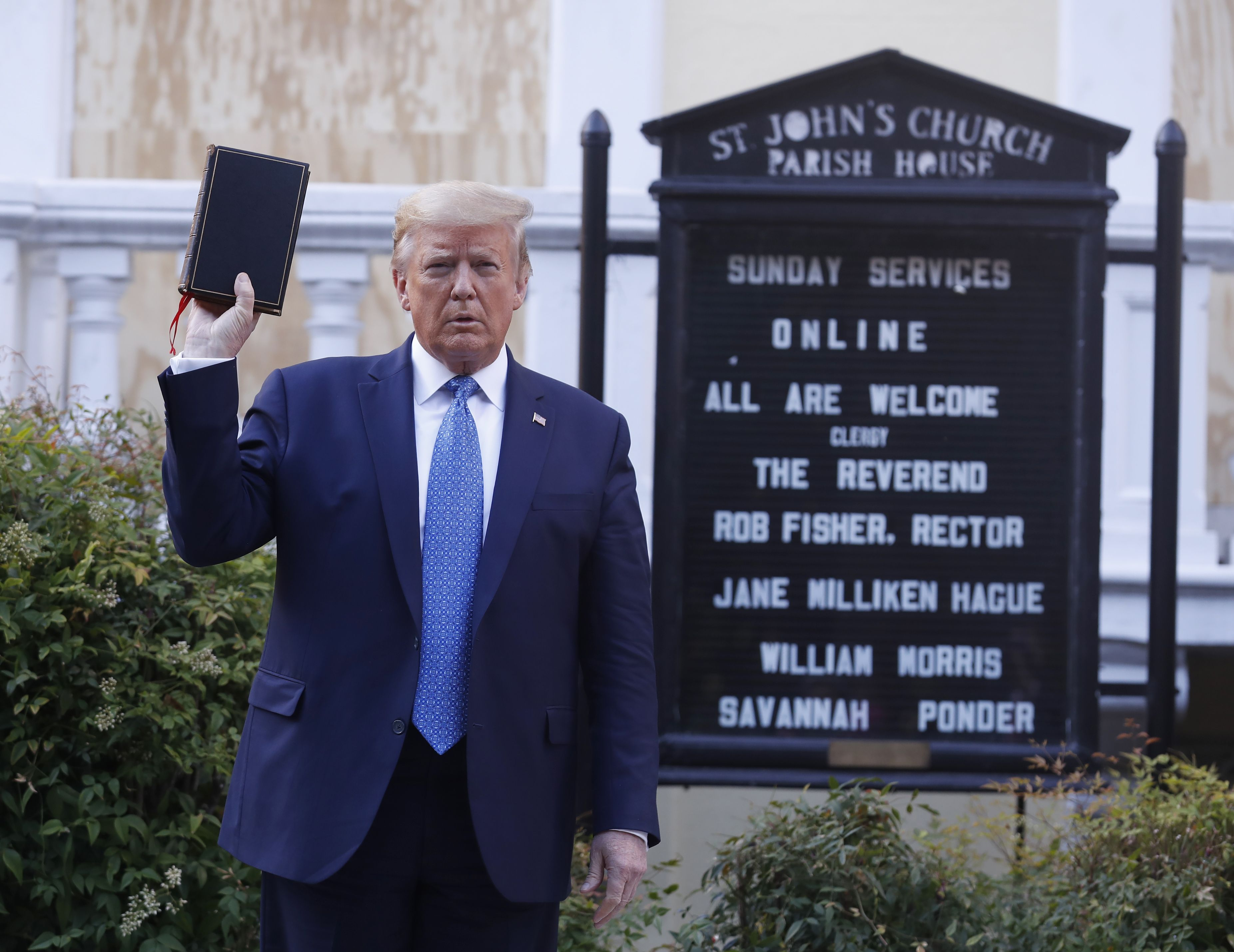 'I'm Outraged': D.C. Bishop Sounds Off On Trump for Using Historic Church as 'Prop'
