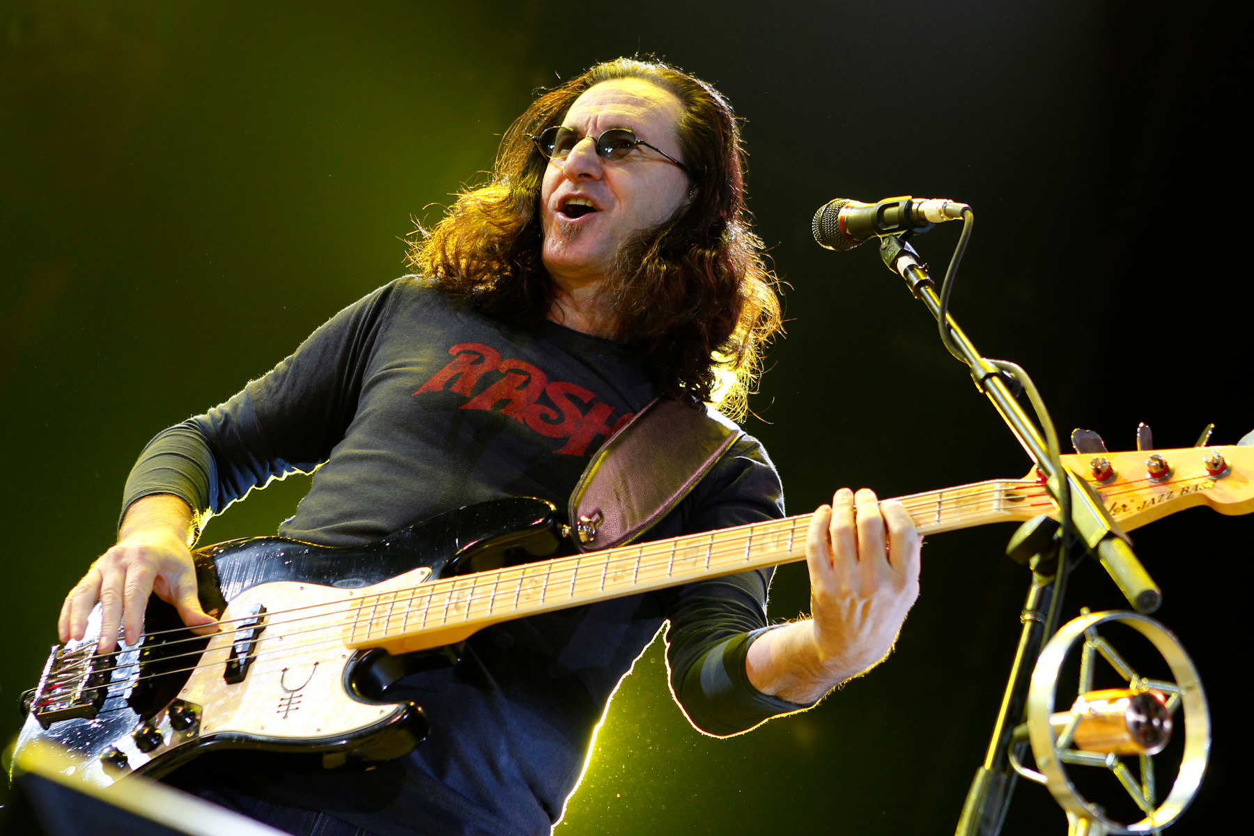 Geddy Lee of Rush performs at O2 Arena on May 25, 2011 in London, England.