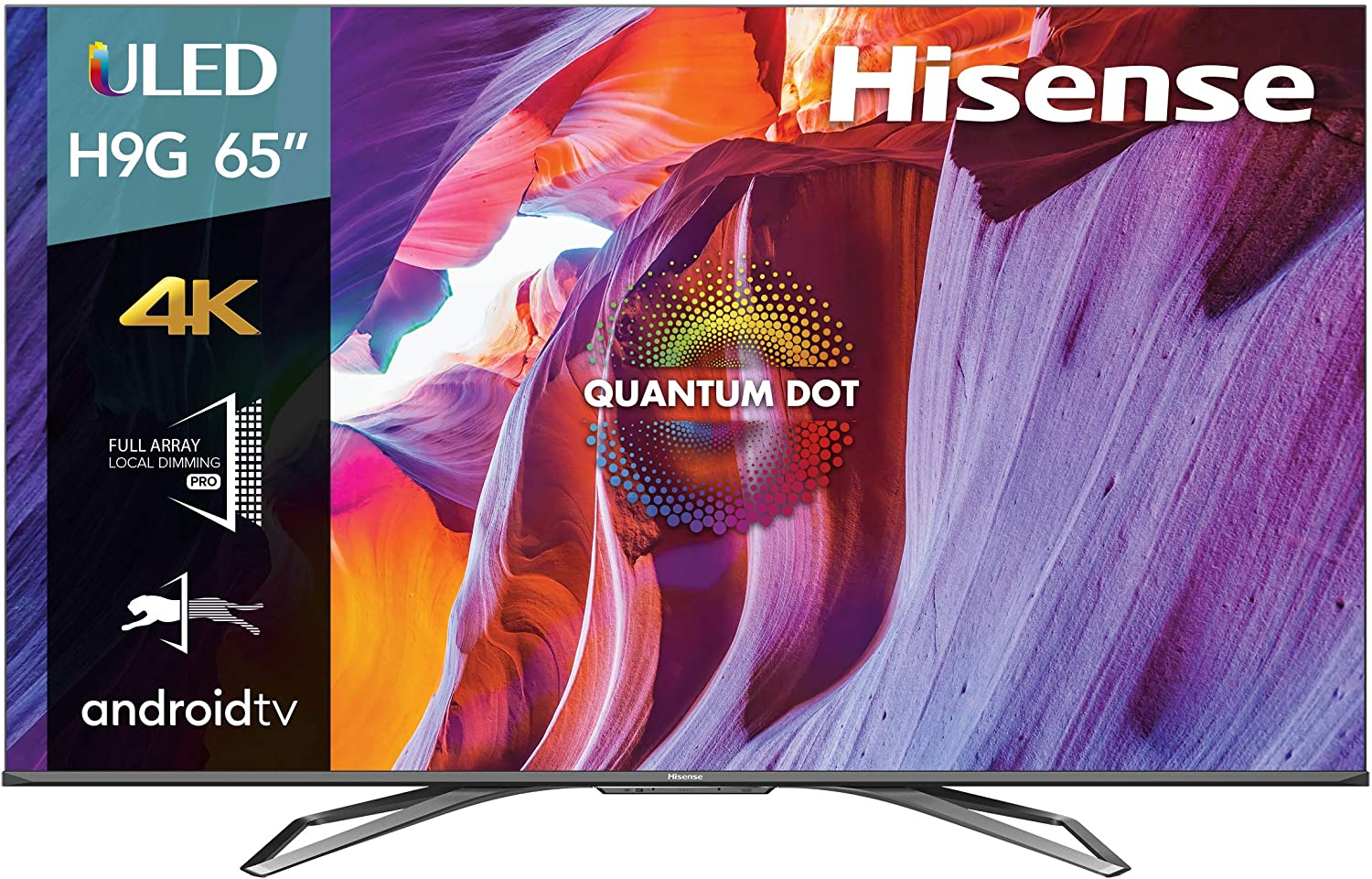 Hisense 65-Inch Class H9 Quantum Series Android 4K ULED Smart TV with Hand-Free Voice Control