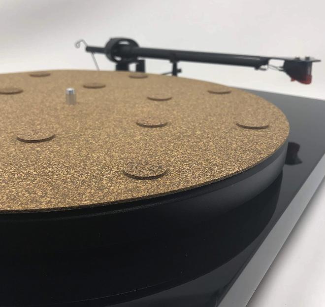 "CoRkErY Decoupled Cork N Rubber Turntable Platter Mat – 1/8"""