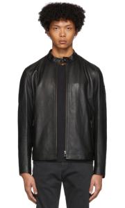 black leather jacket mens belstaff