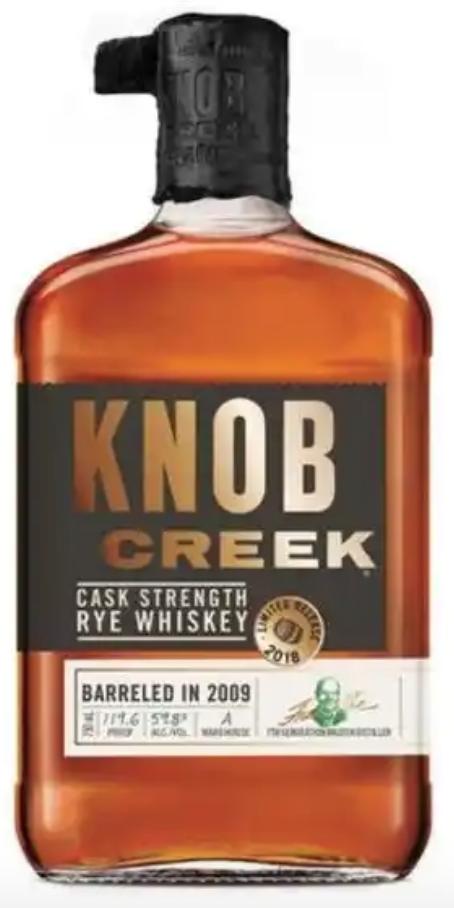 knob creek whiskey rye