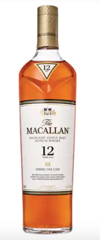 macallan whiskey 12 year