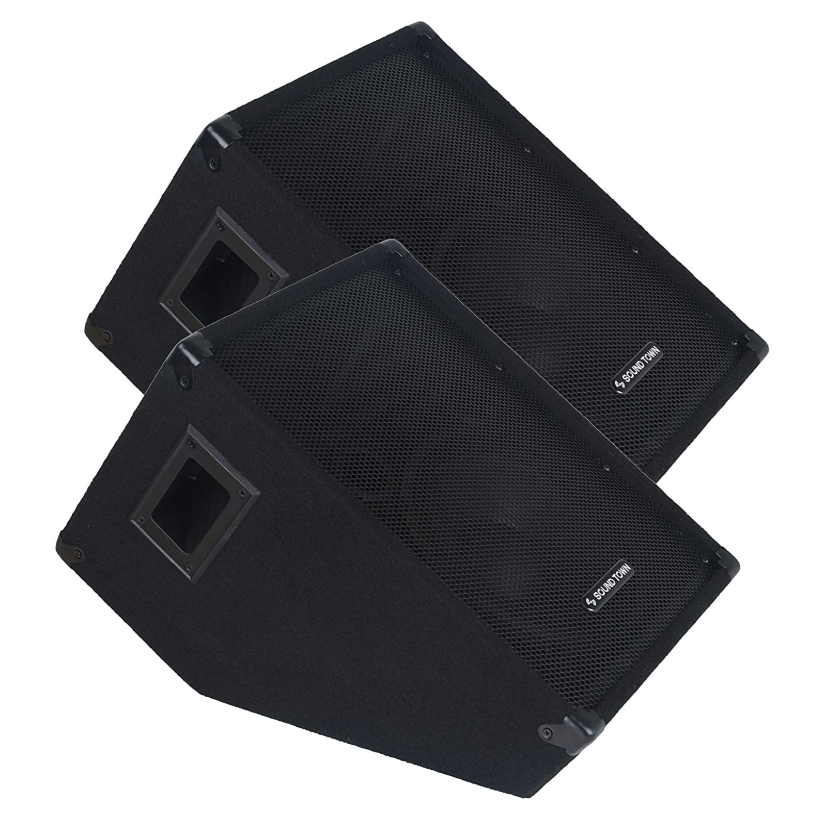 "Sound Town 2-Pack Callisto Series 10"" Passive Stage Monitor Speaker"