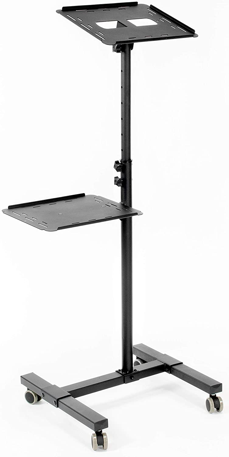 VIVO Black Mobile Rolling Projector Stand