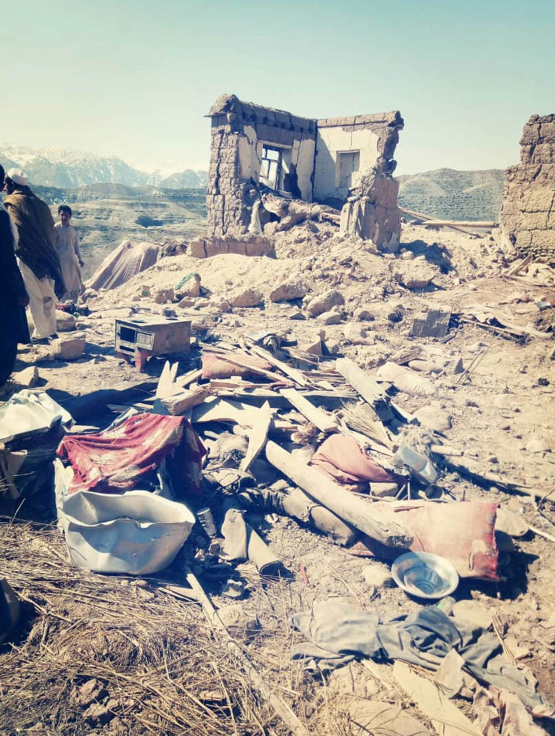 March 10, 2019 Phone image of the aftermath of Nangarhar airstrike - courtesy of Sherif Khan
