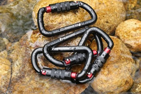 Best Climbing Carabiners 2020 Aluminum Locking D Shape Rolling Stone