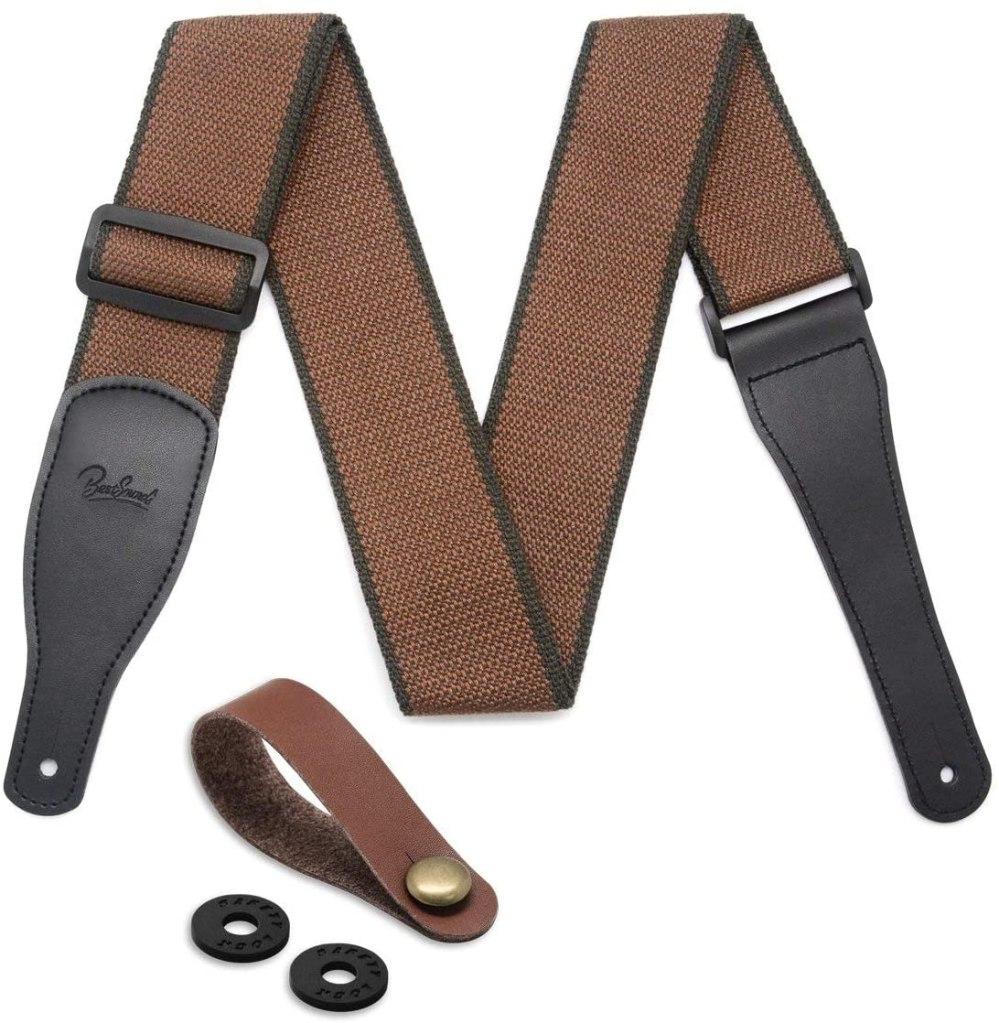 cotton leather guitar strap