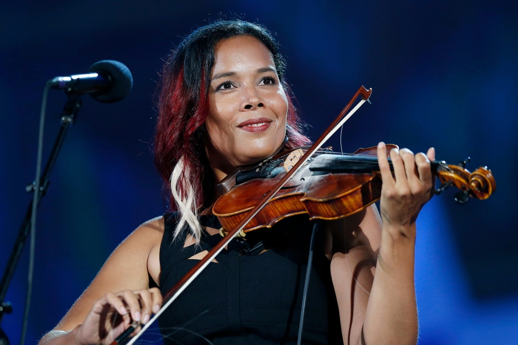 Rhiannon Giddens performs during rehearsal for the Boston Pops Fireworks Spectacular in BostonJuly Fourth , Boston, USA - 03 Jul 2018