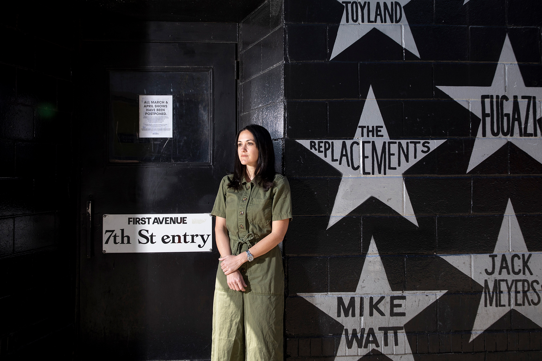 Dayna Frank, the owner of First Avenue in Minneapolis, at the music venue on May 3, 2020. With concerts on hold during the pandemic, independent venues are struggling to hang on and fighting for government aid. (Jenn Ackerman/The New York Times)