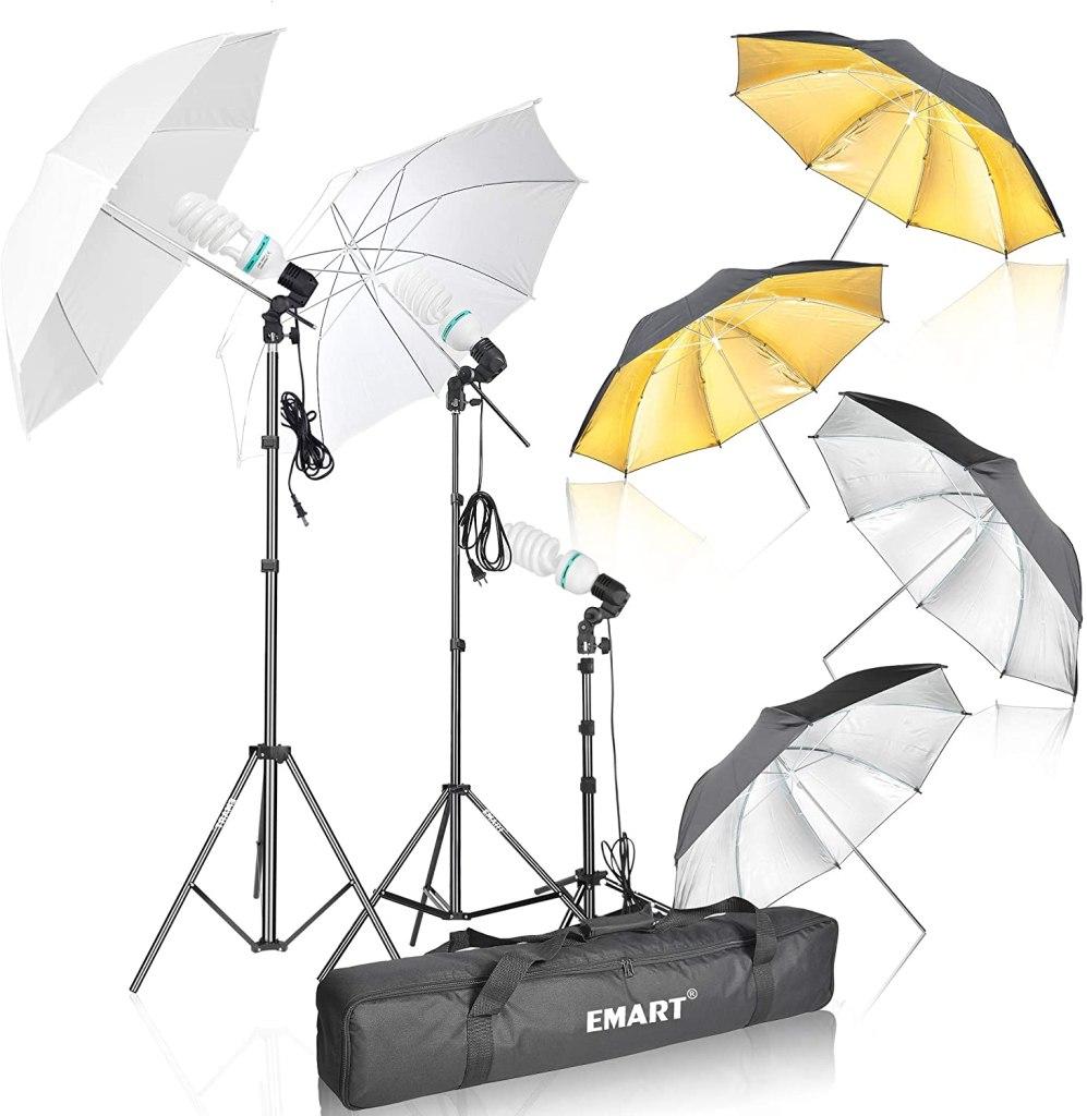 emart photography umbrella lighting kit