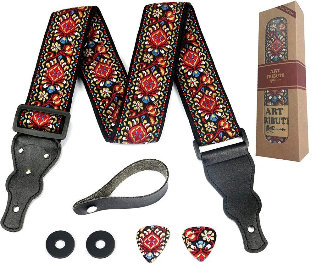 embroidered vintage guitar strap