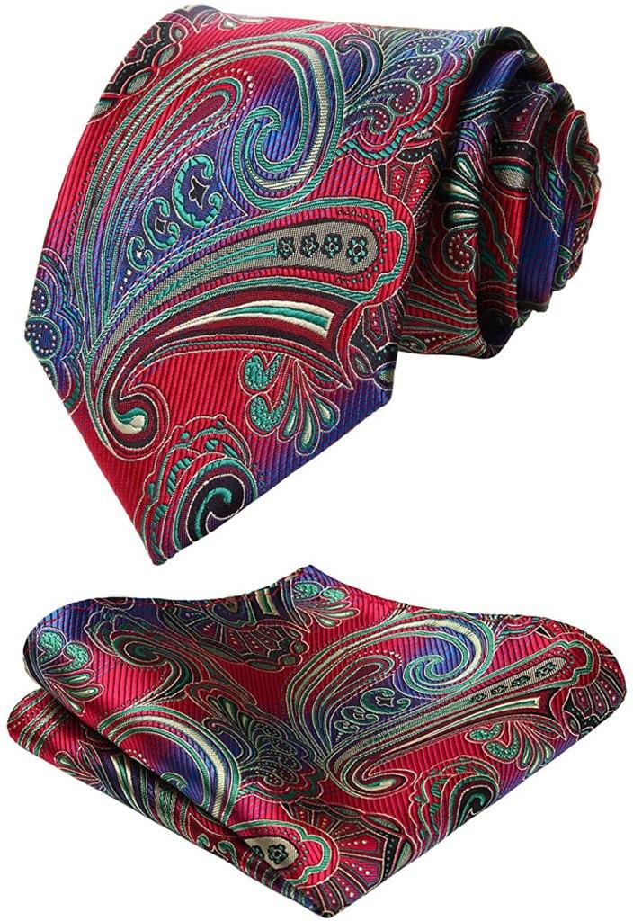 best ties - hisdern paisley floral jacquard neck tie