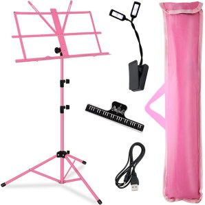 kasonic folding pink sheet music stand
