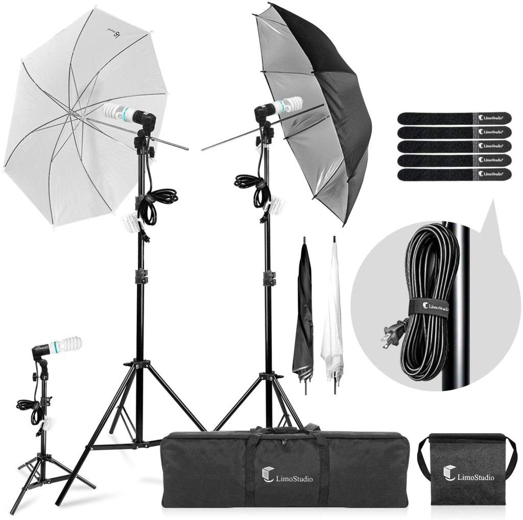 photography umbrella kit studio video portrait