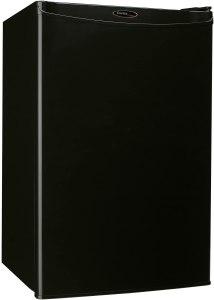 black mini fridge drinks