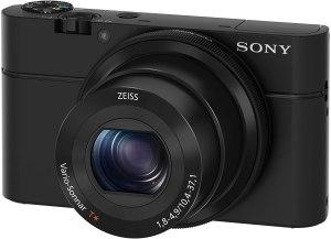 sony point and shoot camera black