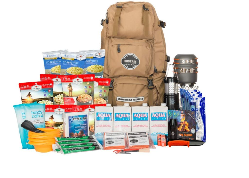 emergency survival kit backpack