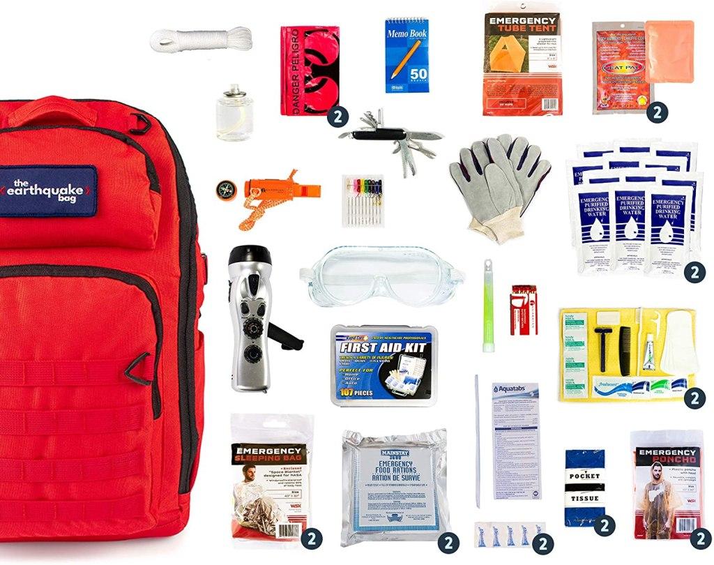earthquake kit backpack