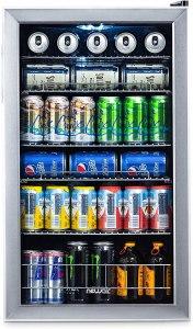 beverage fridge glass door