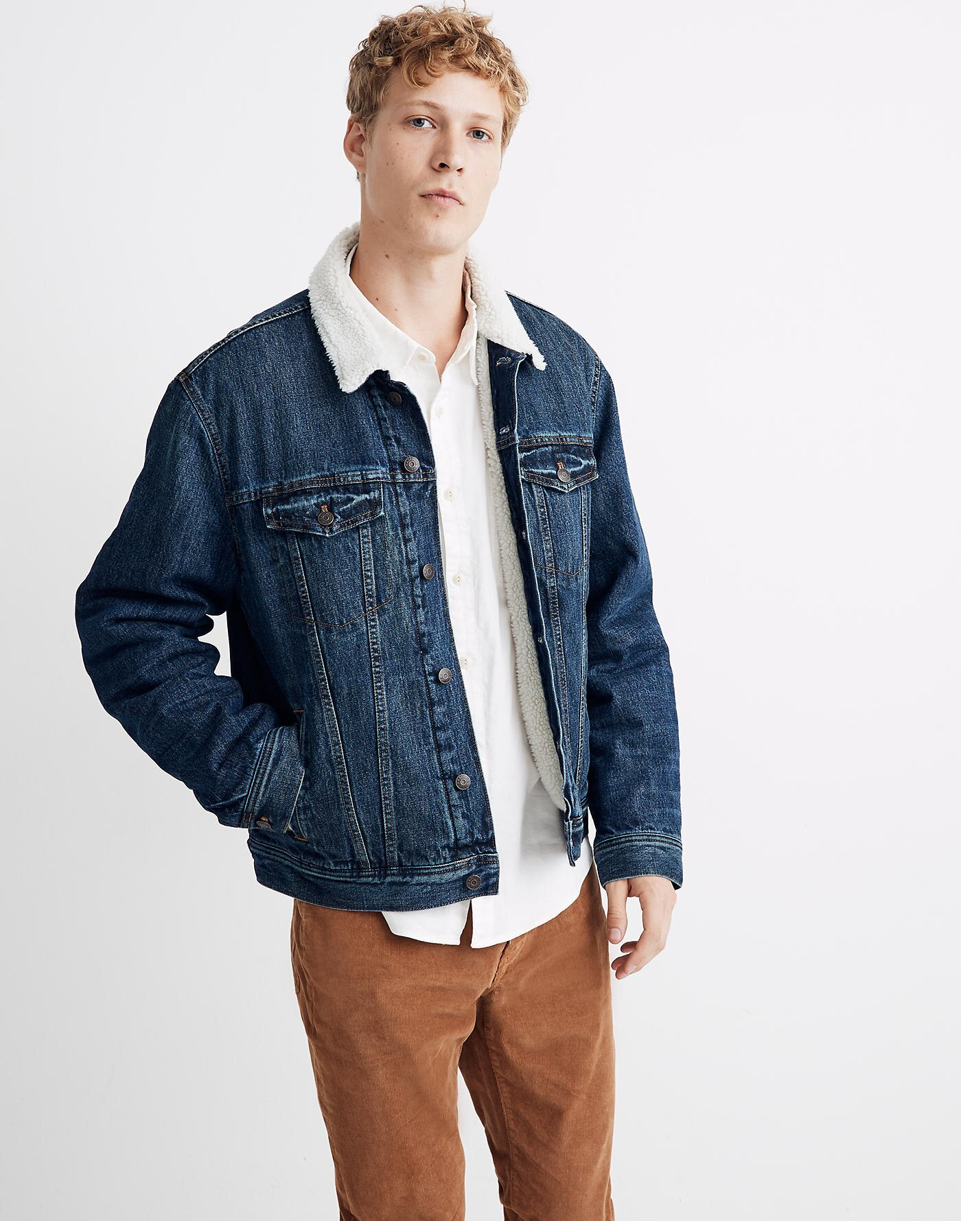 denim jacket fur lined madewell