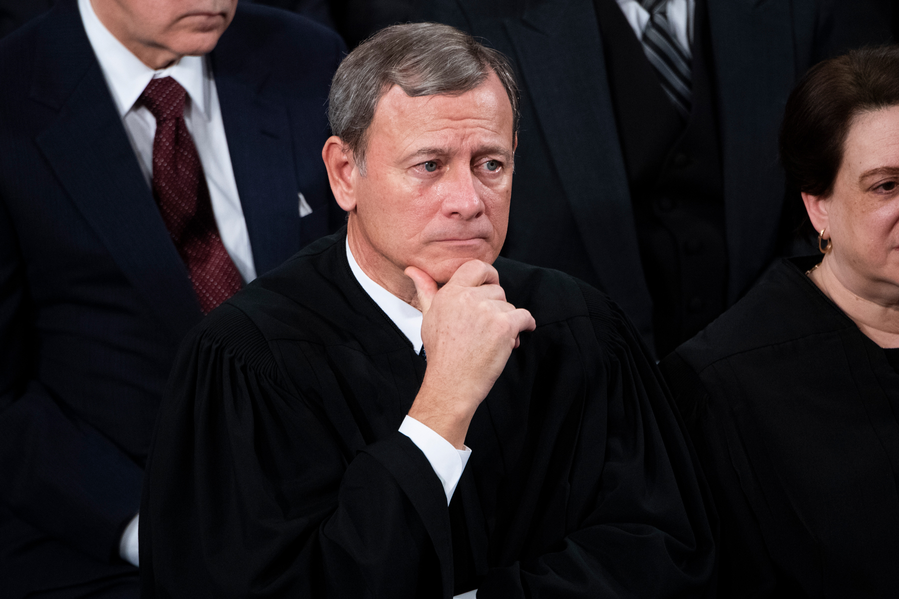 Chief Justice John Roberts during President Donald Trumps State of the Union address in the House Chamber on Tuesday, February 4, 2020.