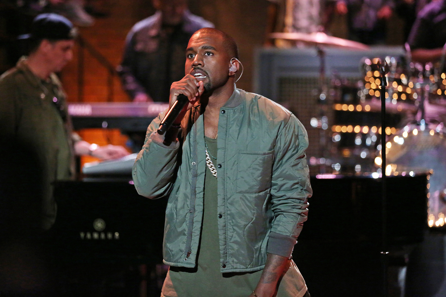 Kanye West performs on SNL on Monday, September 9, 2013.