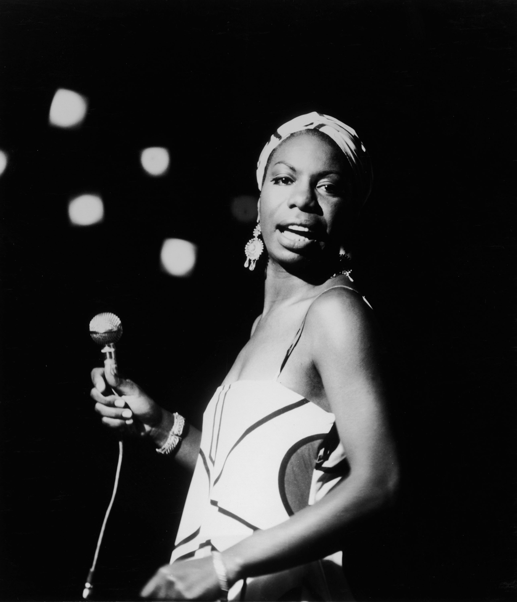 American pianist and jazz singer Nina Simone performs October 18, 1964.