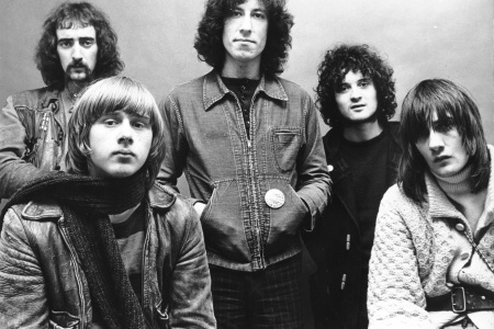 (NO AGENCIES IN UK, FRANCE, GERMANY, HOLLAND, SWEDEN, FINLAND, JAPAN.)    danny kirwan, fleetwood mac, jeremy spencer, john mcvie, mick fleetwood, peter green of Fleetwood Mac 1969 during Music File Photos - The 1960s - by Chris Walter (Photo by Chris Wal
