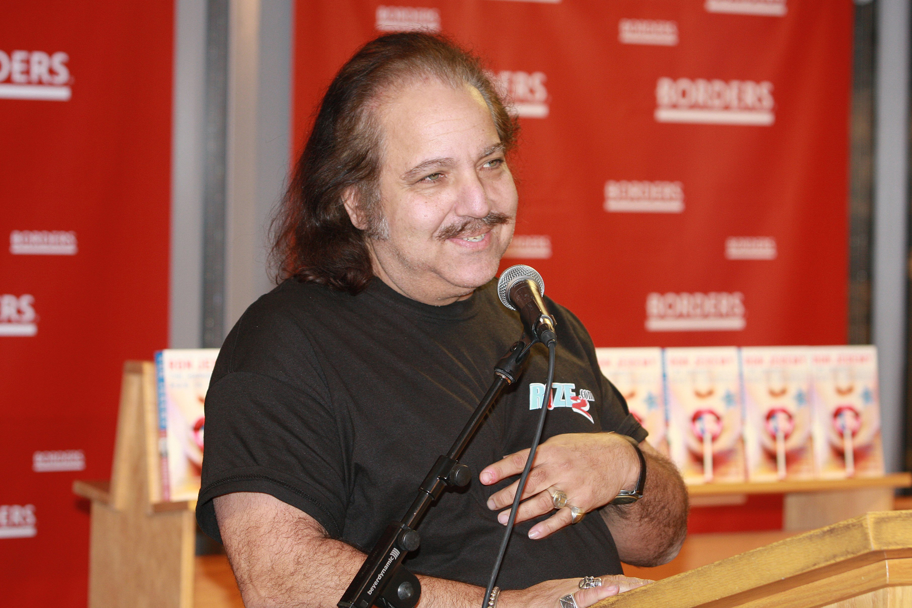 "Ron Jeremy held a discussion and book signing for his book ""The Hardest (working) Man In Showbiz"" at Borders Books and Music in Chicago, Illinois on January 24, 2008."